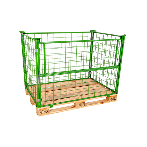 mesh stacking frame, usable height 800 mm, powder coated