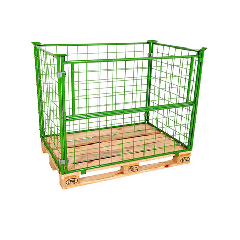 mesh stacking frame, usable height 1000 mm, powder coated