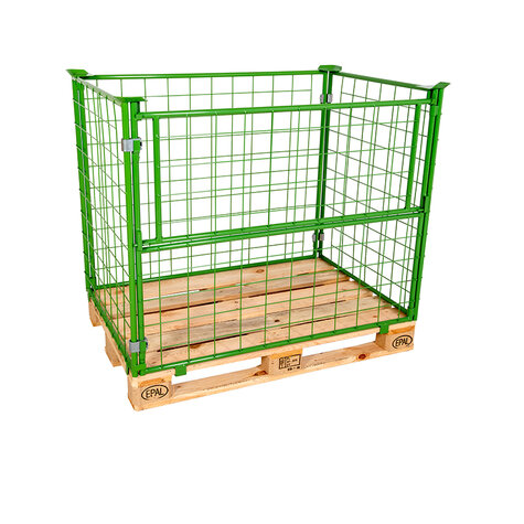 mesh stacking frame, usable height 1200 mm, powder coated