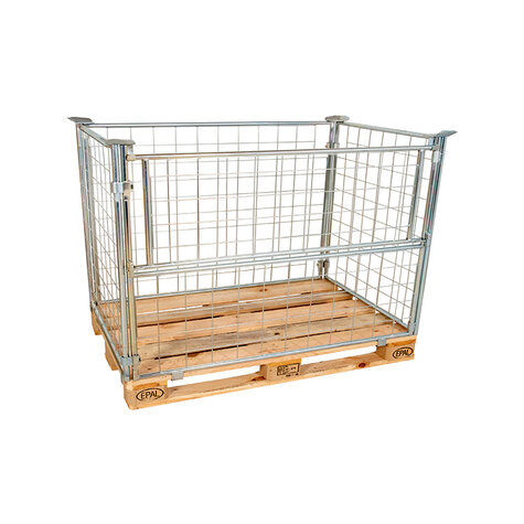 mesh stacking frame, usable height 800 mm, Cr 3 blue zinc