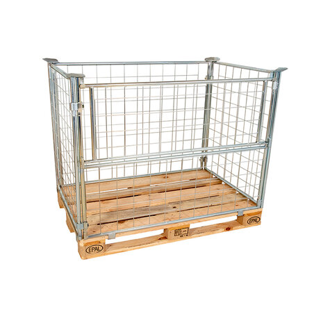 mesh stacking frame, usable height 1000 mm, Cr 3 blue zinc