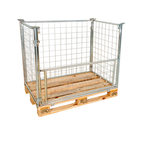 mesh stacking frame, usable height 1200 mm, Cr 3 blue zinc