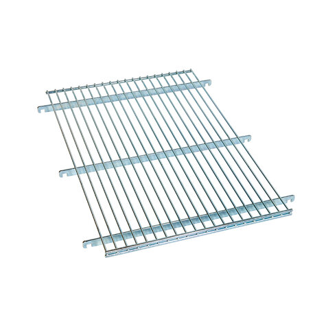 wire shelf, for metal rollcage 460 x 640 mm, Cr 3 blue zinc