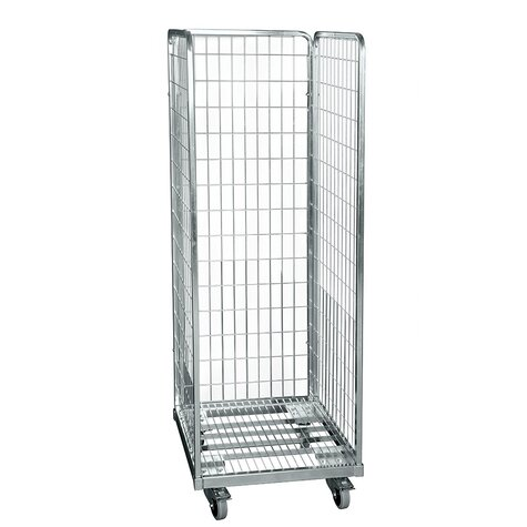 metal rollcage, 600 x 600 mm, type 3-sided