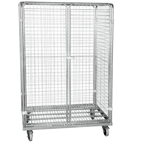 metal rollcage, 800 x 1200 mm, type 5-sided