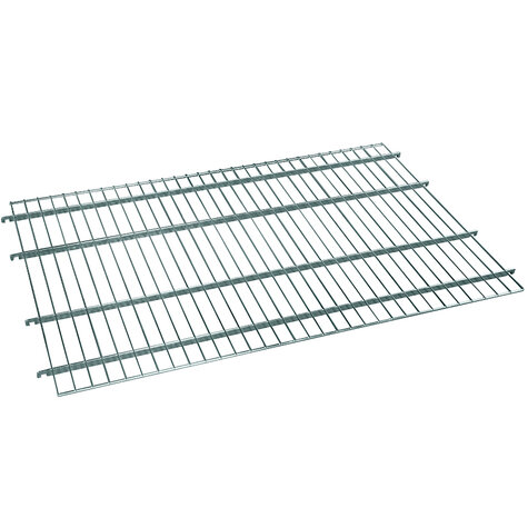 wire shelf, for metal rollcage 800 x 1200 mm, Cr 3 blue zinc