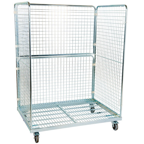 metal rollcage, 950 x 1350 mm, type 3-sided
