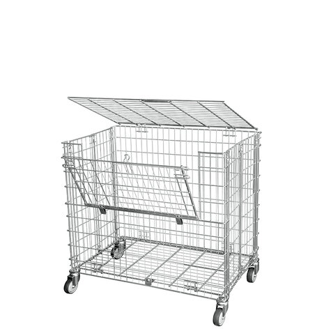 metal rollcage, 1040 x 1000 mm, type 5-sided ANTI-THEFT