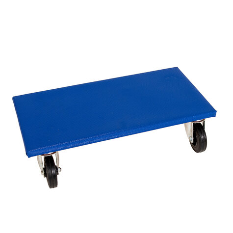 furniture dolly, type 350 x 600 mm, ø 100 mm solid rubber castors