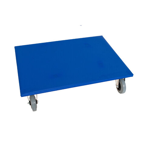 furniture dolly, type 600 x 800 mm, ø 125 mm solid rubber...