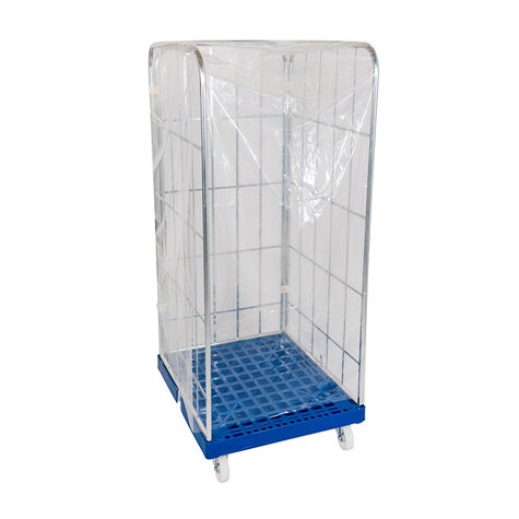 one-way-protection cover, for rollcage 720 x 810 mm, usable height 1460 mm, clear