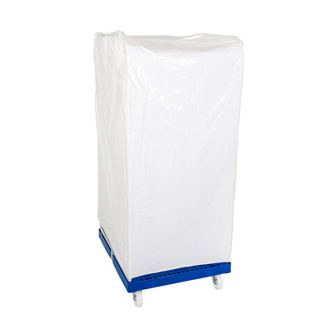one-way-protection cover, for rollcage 720 x 810 mm, usable height 1460 mm, milky white