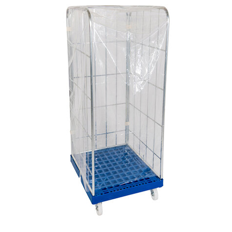 one-way-protection cover, for rollcage 720 x 810 mm, usable height 1650 mm, clear