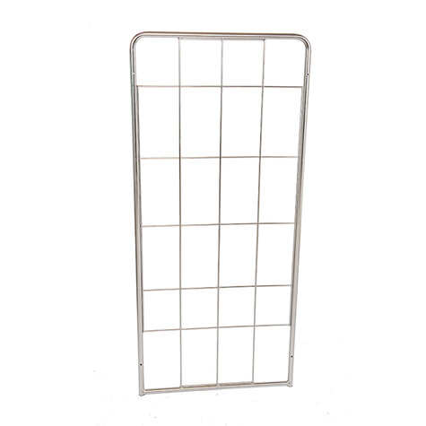 stainless steel backwall, 1.520 x 650 mm, for rollcage