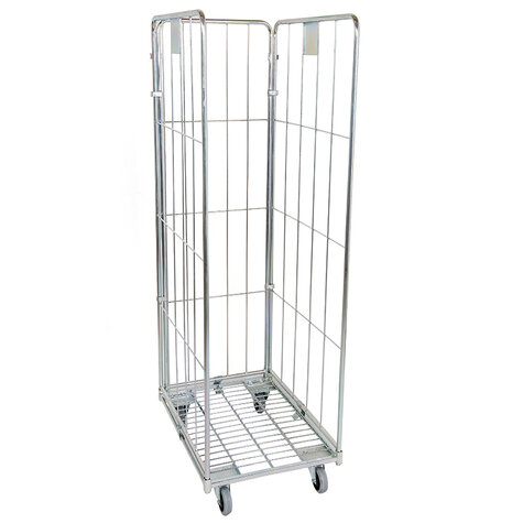 metal rollcage, 600 x 800 mm, type 3-sided