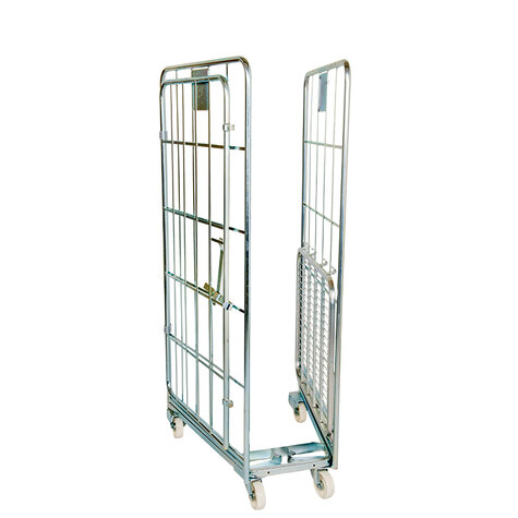 nestable rollcage, 700 x 800 mm, with 1 x metal base, type 3-sided