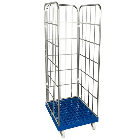 rollcage with plastic base, type 682 x 815 mm, type 2-sided