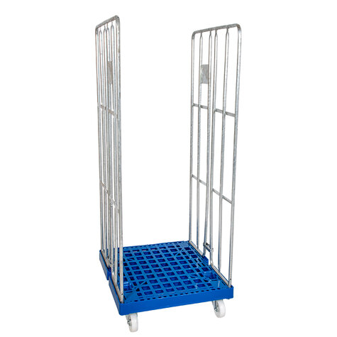 rollcage with plastic base, type 682 x 815 mm, type 3-sided