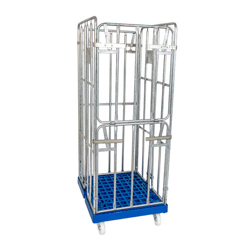 rollcage with plastic base, type 682 x 815 mm, type 4-sided