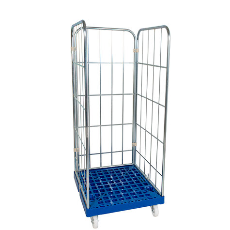 rollcage with plastic base, type 724 x 815 mm, type 3-sided