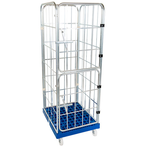rollcage with plastic base, type 724 x 815 mm, type 4-sided