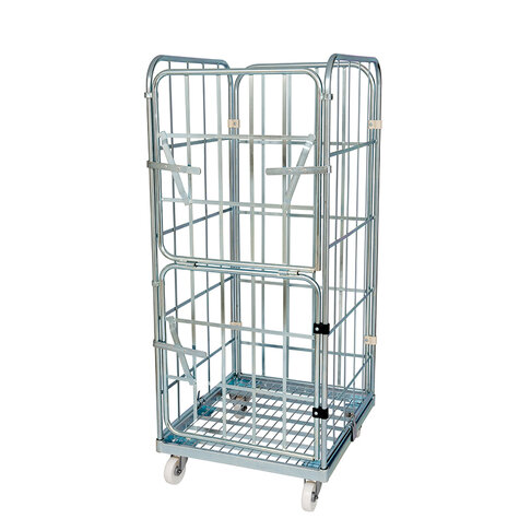 rollcage with metal base, type 710 x 800 mm, type 3-sided
