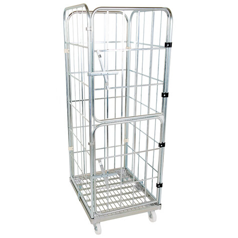 rollcage with metal base, type 710 x 800 mm, type 4-sided