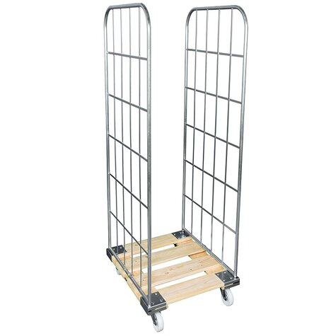 rollcage with wooden base, type 724 x 810 mm, type 2-sided