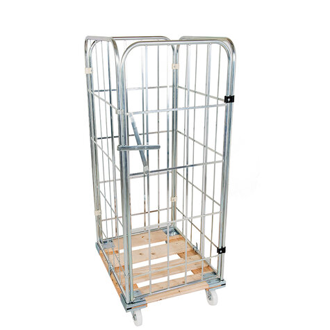 rollcage with wooden base, type 724 x 810 mm, type 4-sided