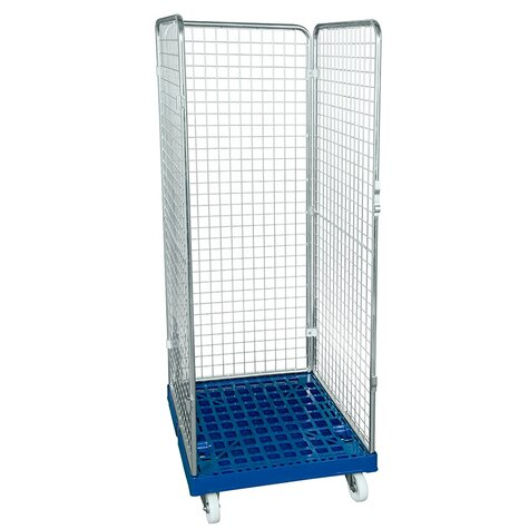 rollcage with plastic base, 724 x 815 mm, type 3-sided