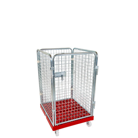 rollcage with plastic base, 724 x 815 mm, type 4-sided