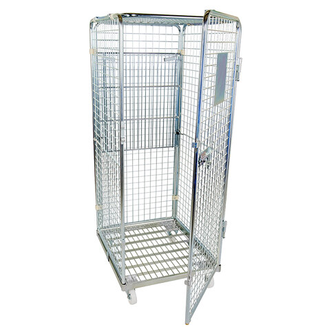 rollcage with metal base, 710 x 800 mm, type 5-sided ANTI-THEFT