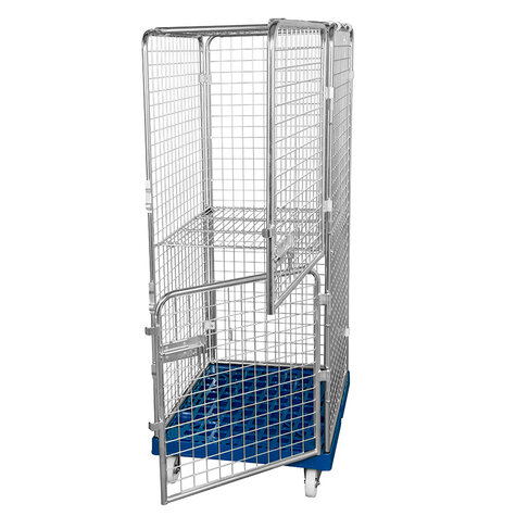 rollcage with plastic base, 724 x 815 mm, type 5-sided ANTI-THEFT