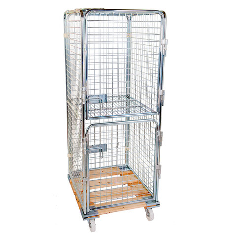 rollcage with wooden base, 724 x 810 mm, type 5-sided...
