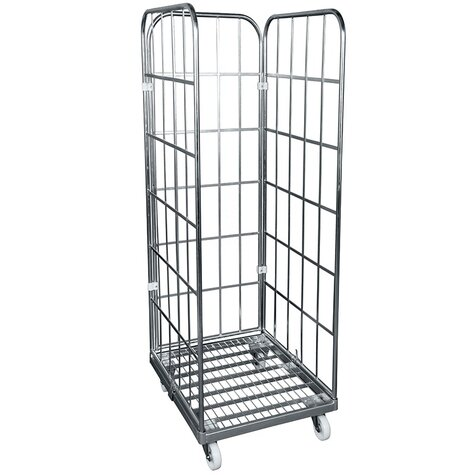 rollcage with metal base, 710 x 800 mm, type 3-sided