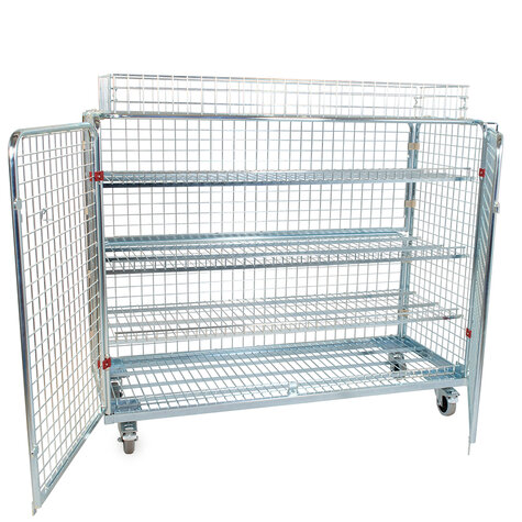 metal rollcage, 620 x 1500 mm, including stacking frame,...
