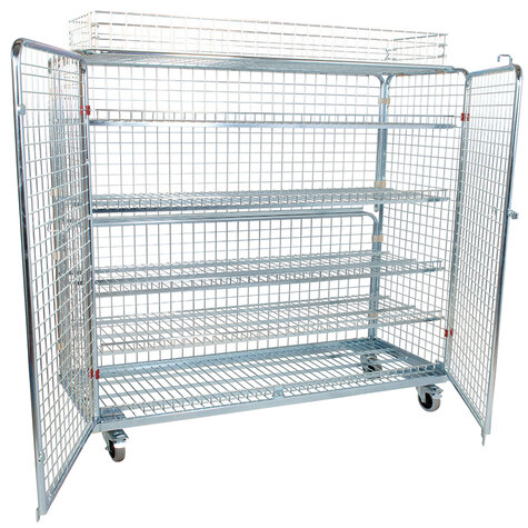 metal rollcage, 620 x 1500 mm, including stacking frame, type 5-sided
