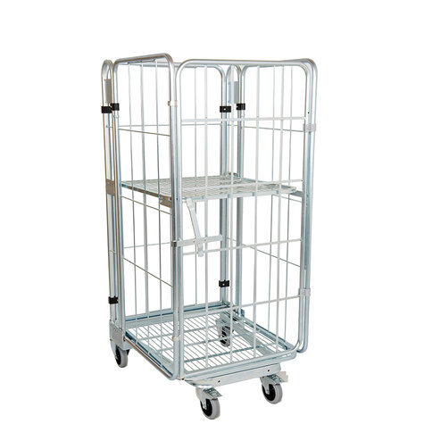 nestable metal rollcage, 730 x 815 mm, with 2 x metal...