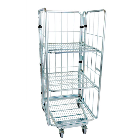 nestable metal rollcage, 730 x 815 mm, with 3 x metal...