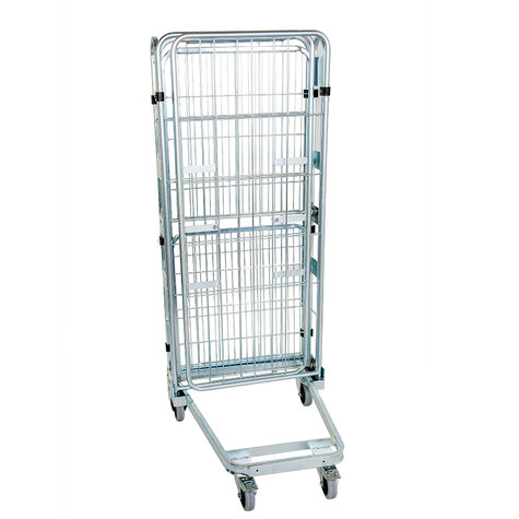 nestable metal rollcage, 730 x 815 mm, with 2 x metal base, type 3-sided