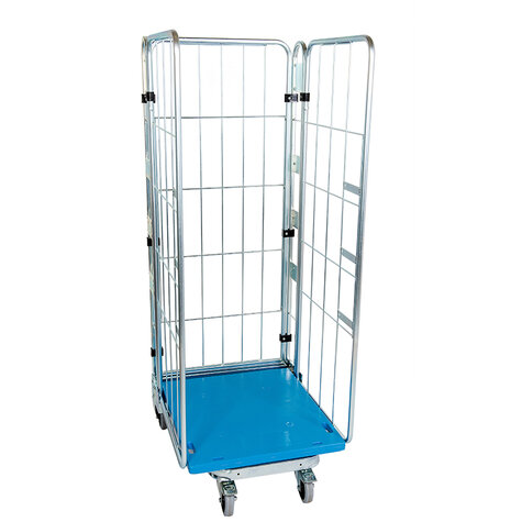 nestable metal rollcage, 730 x 815 mm, with 1 x plastic...