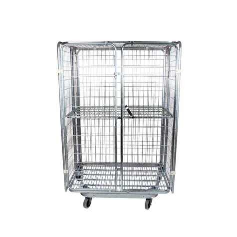 nestable metal rollcage,  800 x 1200 mm, with 2 x metal...
