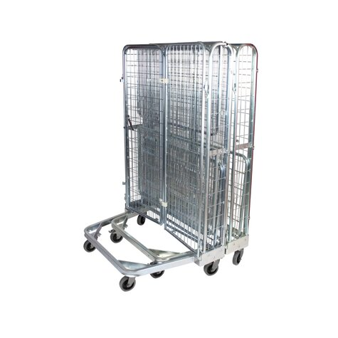 nestable metal rollcage,  800 x 1200 mm, with 2 x metal base, type 5-sided