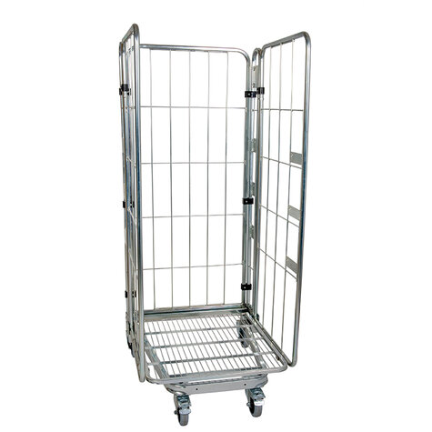 nestable metal rollcage, 730 x 815 mm, with 1 x metal...