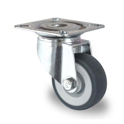 transportroller, 415 x 615 mm, type open light version, ø 100 mm PP/TPE castors