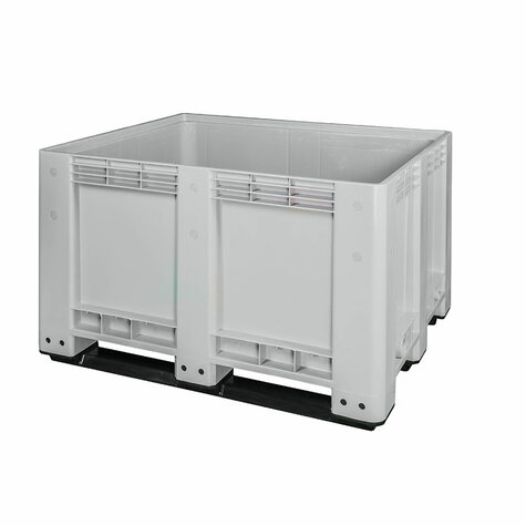 Big-Box 1200 x 1000 mm closed version with 3 skids light gray
