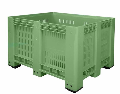 Big-Box 1200 x 1000 mm perforated version with 4 feet green
