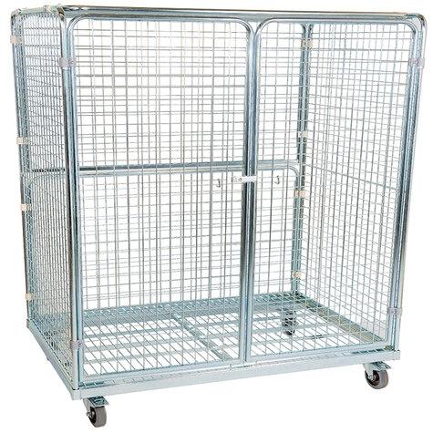 metal rollcage, 800 x 1600 mm, type 5-sided, ANTI-THEFT