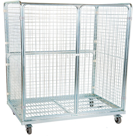 metal rollcage, 800 x 1600 mm, type 4-sided