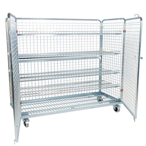 metal rollcage, 620 x 1500 mm, type 4-sided